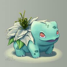 Nigella Bulbasaur loves to pose for photos  By the way this is the 30th Blooming Bulbasaur I've drawn - gonna keep up with a new one every Monday and hit 50 by the end of the year!
