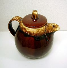 Vintage Teapot Hull Pottery Mirror Brown Drip by OceansideCastle, $16.00