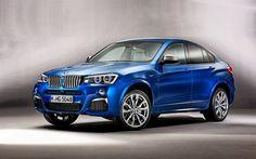 BMW X4M, 2016 cars, crossovers, blue x4, BMW