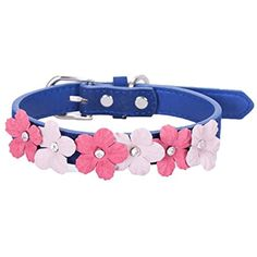 Bow Tie Dog Collar,Lillypet® Bling Pet Dog Cat Adjustable Patent Leather Collar With Rhinestone Buckle (M, Blue) ** Check out this great product. (This is an affiliate link) #Dogs