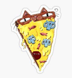 Pizza Kitty Sticker