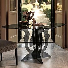 The Veblén Venice Dining Table is designed by Marzia & Leonardo Dainelli and is available from We have the full collection of available with free UK delivery, installation & price guarantee. Luxury Dining Tables, Venice, Kitchen Dining, Glass, Furniture, Design, Home Decor, Decoration Home, Drinkware