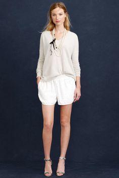 J. Crew Makes the Case for Bridal Shorts  - ELLE.com