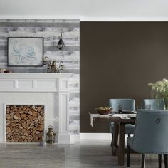 Featuring Valspar Signature Italian Leather | Satin sheen offers an elegant, soft look and is ideal for areas like the foyer or an accent wall in high-traffic areas. #lowes #paint #livingroom #familyroom