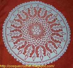 Blue doily with diagram