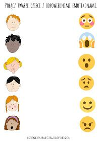 Dzieckiem bądź: Emocje dla dzieci Emotions Preschool, Body Parts Preschool, Emotions Activities, Free Preschool, Preschool Worksheets, Preschool Learning, Learning Activities, Preschool Activities, Indoor Activities For Kids