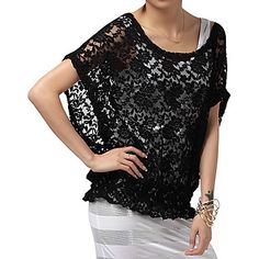 blusas de encaje para señoras - Buscar con Google Haute Couture Style, Lace Tops, Preppy, High Fashion, Clothes For Women, Blouse, Dresses, Floral, Image