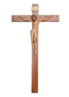 altezza cm. 70 in resina croce di legno  dipinto con colori acrilici e finiture ad olio  http://www.ovunqueproteggimi.com/collezione-statue/ges%C3%B9/cristo-in-croce/