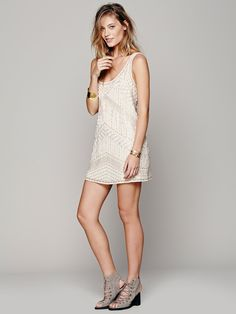 Free People Tribal Arrows Embellished Shift, $168.00