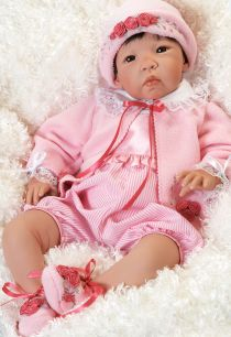 Nischi, 21 inch Realistic Asian Baby Doll in Vinyl and Wieghted Body