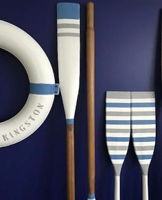 Nautical home. From Lighthouses to Windmills, Nautical Home decor will have a thing for any nautical enthusiast out there. Beach Cottage Style, Cottage Style Homes, Beach House Decor, Coastal Style, Coastal Decor, Coastal Homes, Nautical Design, Nautical Home, Painted Oars