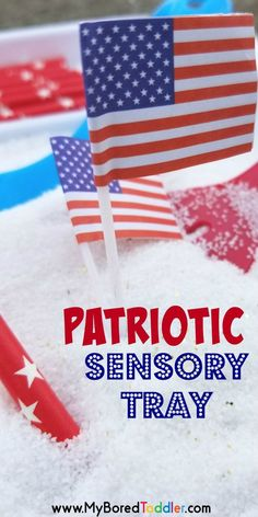 Start Out Your Very Own Sewing Company Patriotic Sensory Tray For - A Fun For Toddlers And Preschoolers - Perfect For Fine Motor Activities For Kids, Sensory Activities Toddlers, Fun Games For Kids, Sensory Bins, Sensory Play, Infant Activities, Summer Activities, Free Activities, Family Activities