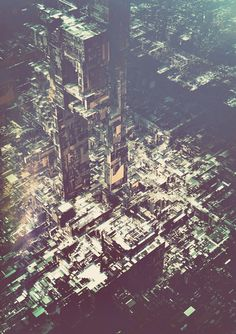 Digital artworks from the series A. by Atelier Olschinsky. The Vienna, Austria based creative studio, Atelier Olschinsky recently published a Architecture Artists, Architecture Drawings, Ville Cyberpunk, Vertical City, Graphic Art, Graphic Design, Deconstructivism, Photoshop, Modern Artists
