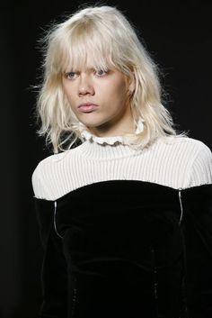 Derek Lam Autumn/Winter 2016 Ready-To-Wear Details | British Vogue #HighNeckLine #Ruffles
