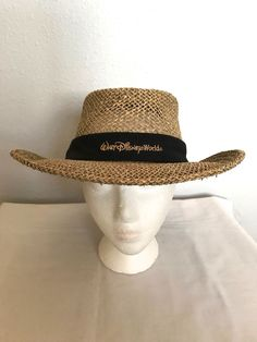 7051ae50dda WALT DISNEY WORLD Straw Hat-Wide Brim Safari Hat-Sun Hat-Unisex Adult