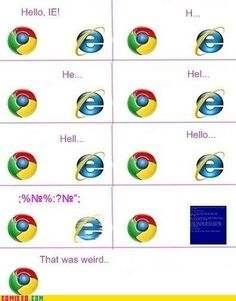 Take your time IE!