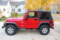 2002 Jeep Wrangler X Red 6 cylinder manual - Carsfortheconnoisseur 2002 Jeep Wrangler, Used Jeep, Clock Spring, Manual, Red, Textbook