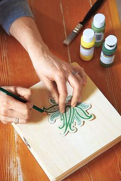 Create templates: Cut out a shape or design you like from a piece of wallpaper and use as a guide to re-create the motif.
