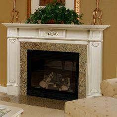 Pearl Mantels Monticello Wood Fireplace Mantel Surround | from hayneedle.com
