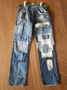 Diy Fashion, Mens Fashion, Denim Boots, Boho Diy, Hippie Bohemian, Boho Outfits, Blue Jeans, Upcycle, My Design