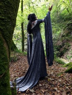 Velvet Requiem Gown by Moonmaiden Gothic Clothing UK - Arwen Lord of the Rings Elven Gown