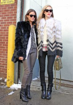 Winter Outfit Ideas From New York Fashion Week Fall 2013 - Love the jackets.