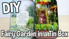 DIY Fairy Garden in a Tin Can Miniature Dollhouse Kit Box Theatre Forest...