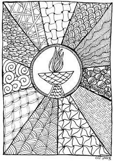 Unitarian Universalist chalice to color Image courtesy Cindy Landrum