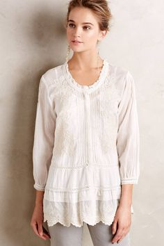 at anthropologie Peronelle Peasant Top