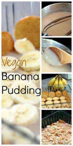 Vegan Banana Pudding with vegan vanilla pudding recipe! #vegan #dairyfree #summer