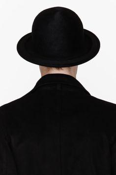 ANN DEMEULEMEESTER Black wool round hat