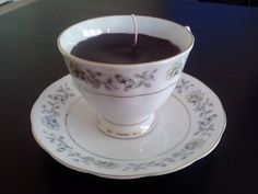 Teacup Candle by ThriftyNiki on Etsy