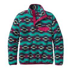 Patagonia Women\'s Lightweight Synchilla\u00AE Snap-T\u00AE Fleece Pullover - Wild Desert: Beryl Green WDBG