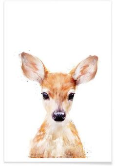 Little Deer Art Print by Amy Hamilton. All prints are professionally printed, packaged, and shipped within 3 - 4 business days. Choose from multiple sizes and hundreds of frame and mat options.