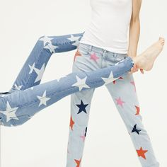 Say goodbye to the blues and add a touch of fun with true blue star printed denim. #StellaDenim