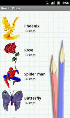 How to Draw – Easy Lessons v3.3 APK  – Learn to draw with How to Draw! Like a personal art teacher, it will teach you how to draw dozens of different objects and create amazing pictures.