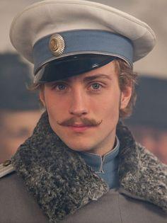 """Aaron Taylor-Johnson as the dashing Count Alexei Vronsky in """"Anna Karenina"""" (2012)"""