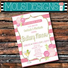 Any Color Gold Glitter Stripes Happy Hour BABY by MolsDesigns