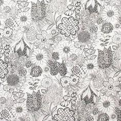 A Ghastlie Garden in Natural/Gray/Tan (7982d) - The Ghastlies - 2014 -  Alexander Henry Fabric, 1 yard, BTY