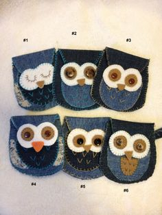 Owl coin purse fabric pouch/organizer. by FruitOfLifeCreations
