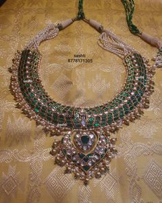 Antique Jewellery Designs, Fancy Jewellery, Antique Jewelry, Jewelry Design, Silver Jewellery, Emerald Jewelry, Beaded Jewelry, Diamond Necklace Simple, Affordable Jewelry