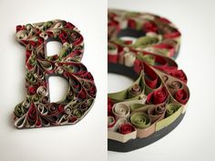 Instructions to make your own quilled monogram