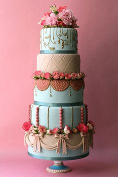 Pastel tiered cake #stunning