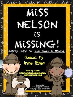 Miss Nelson Is Missing : Back-To-School Packet for the first week of school.This has 38 pages of ideas, discussion questions, games, activities...