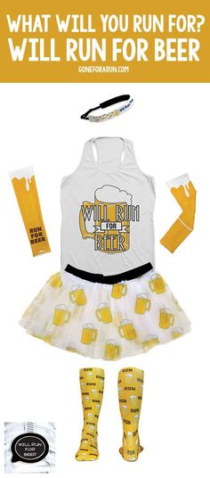 Running your next race for beer? Here is the perfect outfit idea for your next big race! goneforarun.com