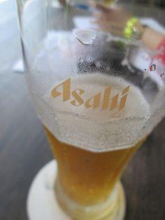 Having a pint of Asahi at Izakaya Bar at The Oasis, Changi City Point.