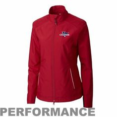 Cutter & Buck Boston Red Sox 2013 MLB World Series Champions Ladies Beacon WeatherTec Full Zip Jacket - Red