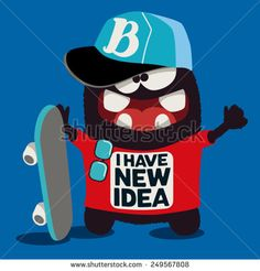 Find cool stock images in HD and millions of other royalty-free stock photos, illustrations and vectors in the Shutterstock collection. Thousands of new, high-quality pictures added every day. Toy Art, Skate, Monster Illustration, Cool Monsters, Monster Art, En Stock, Printable Designs, Kids Prints, Graphic Design Posters