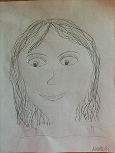 a quick and easy drawing of a girl made by a 12 year old girl