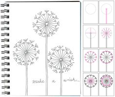 How to Draw cute Dandelions! This is on a kid's project site, but I think it could be nice on cards or just to doodle about.